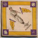 1914 B18 Blanket 36.2 Miller Huggins (yellow pennants) Ex