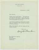 Letter  Eisenhower, Dwight (great content) 9.5 JSA LOA