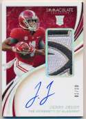 2020 Panini Immaculate 103 Jerry Jeudy Patch Auto /10 Nm-Mt