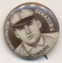 1910 Sweet Caporal Pins 75.1 Walter Johnson (small letters) Ex-Mt+