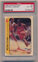 1986 Fleer Stickers 8 Michael Jordan PSA 6