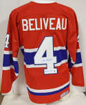 Jersey  Beliveau, Jean Red Montreal Canadiens Jersey 9.5 STEINER LOA