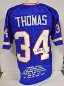 Jersey  Thomas, Thurman Blue Buffalo Bills Jersey 9.5 JSA LOA (CARD)
