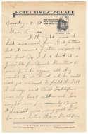 Letter  Alexander, Grover Cleveland 2-Page ALS! 9.5 JSA LOA (FULL)
