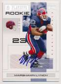2007 Donruss Playoff Rookies  Marshawn Lynch Signed RC (21/25) Nm-Mt