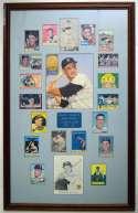 1956   Frank Malzone Framed Signed Card Display 9