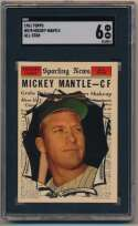 1961 Topps 578 Mickey Mantle AS SGC 6