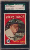 1959 Topps 10 Mantle SGC 6