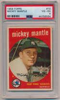 1959 Topps 10 Mantle PSA 4 (ctd)