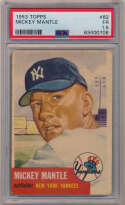 1953 Topps 82 Mickey Mantle PSA 1.5