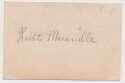 Cut  Maranville, Rabbit Vintage Signed 4x3 Cut 8