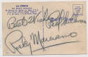 Postcard  Marciano, Rocky 9