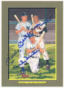 1985 Perez Steele Greatest Moments 87 Willie Mays, Mickey Mantle, Duke Snider 9.5