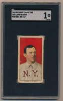 1909 T206 313 McGraw (portrait, no cap) SGC 1