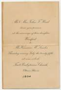 1894   Kenesaw Mountain Landis Wedding Invitation! Ex