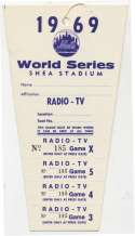 1969   World Series Press Pass NM