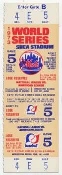 1973 Ticket  World Series Game 5 Full Ticket Ex-Mt