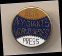 1936 Press Pin  New York Giants NM
