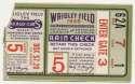 1945 Ticket  World Series Game 5 Good
