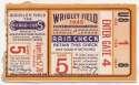 1945 Ticket  World Series Game 5 VG+