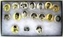 1950 PM10  Collection of 17 Pins w/Williams & Snider NM