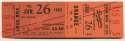 1962 Ticket  LA Dodgers/Braves (6/26/62) - Koufax 13K Loss Ex-Mt