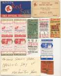 1975 Ticket  Boston Red Sox Ticket Collection Ex-Mt