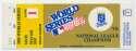 1985 Ticket  World Series Game 1 VG-Ex/Ex