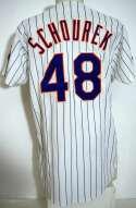 1992 Jersey  Pete Schourek Circa 1992 Mets Home Jersey