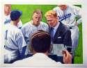 1990 S. Rini Brooklyn Dodgers Original Artwork  Barber/Durocher NM