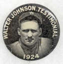 1924   Walter Johnson Day Pin