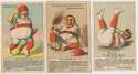 1880 Merchants Gargling Oil  Lot of 5 different trade cards VG