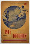 1947 Scorecard  Jackie Robinson First Hit Game Good
