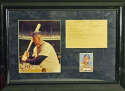 1952 Topps  Mickey Mantle Reprint Card in framed display 9.5 JSA LOAA
