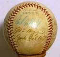 1947   Late 40s Giants/Cardinals 7 JSA LOA