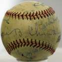 Dean, Dizzy Signed 1947 Baseball 8 JSA LOA (FULL)