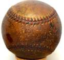 Ruth/Gehrig Signed Early 1930s Ball 3