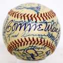Mack/Ted Williams/Stengel Signed 1950 Era Ball 9