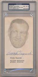 Nagurski, Bronko Signed/Slabbed 1954 Envelope 9.5