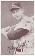 1947 Exhibit 173 Mantle Batting No Pinstripe 1st Name White Ex-Mt
