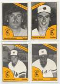 1977 TCMA  Waterloo Indians w/error Brennan,Stickfaden no Cap Complete Set NM