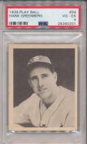 1939 Play Ball 56 Greenberg PSA 4