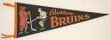 1960   Vintage Boston Bruins Pennant Ex-Mt/NM