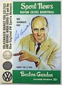 Program  Auerbach, Red Signed 1966 Celtics Program 9.5