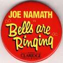 Pin  Joe Namath 1990s Claridge Pin Nm-Mt