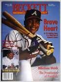 Program  Jones, Andruw Signed 1997 Beckett Magazine 9.5