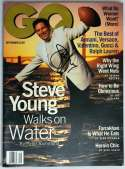 Program  Young, Steve Signed 1995 GQ Magazine 9.5