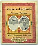 1928 World Series Program  At Yankees VG-Ex
