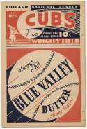 1933 Scorecard  Cubs (unscored vs. Cardinals) Ex-Mt/NM