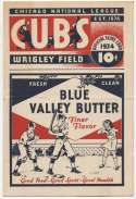 1934 Scorecard  Cubs (unscored vs. Giants) Good